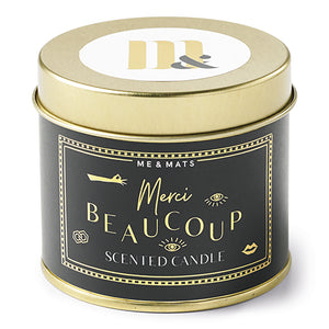 Tin Merci Beaucoup - Candle