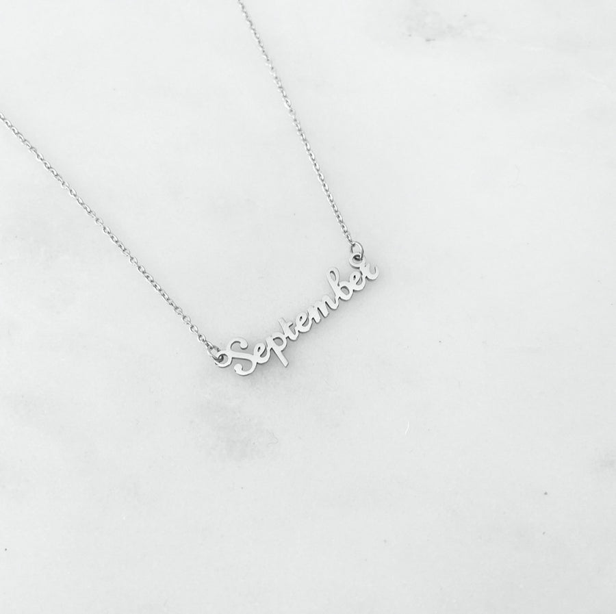 Month Silver - Necklace