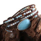Amazonite 3 Strands Wrap Bracelet
