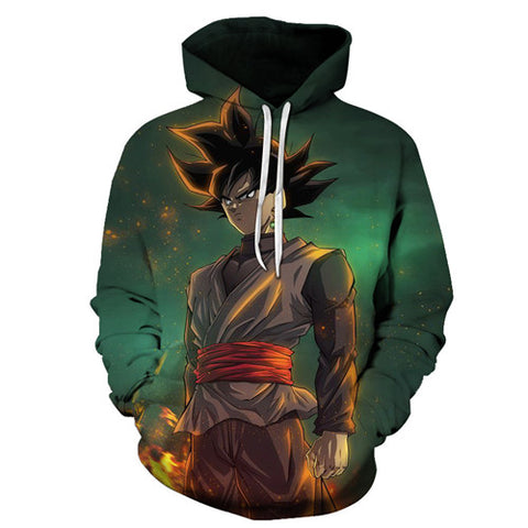 Anime Dragon Ball Z Pocket Moletom com capuz Goku 3D Hoodies Pullovers de manga comprida mcm