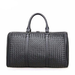 Leather Duffel Travel Weave Bag