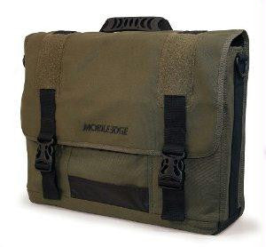 Mobile Edge Llc Eco-friendly Laptop Messenger - Holds 17.3 Screens - Made From 100% Olive Cotton