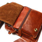 Vintage Crazy Horse Leather Small Messenger Bag