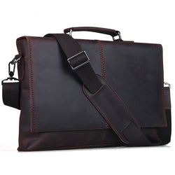 Retro Leather Briefcase For Notebook 13""