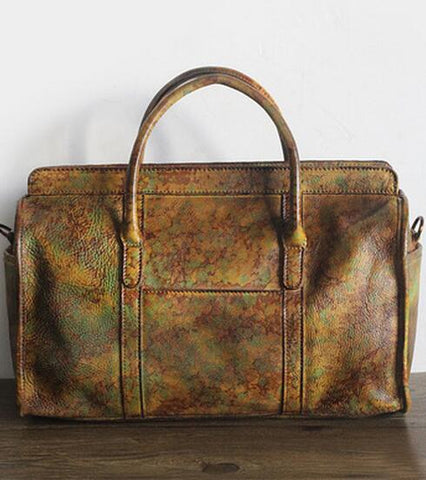 Unique Genuine Vintage Leather Travel Bag