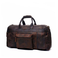 Vintage Crazy Horse Leather Travel Duffle Bags