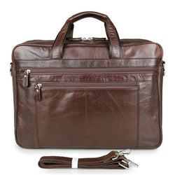 Cowhide Briefcase  - 17 inch Laptop Business Bag