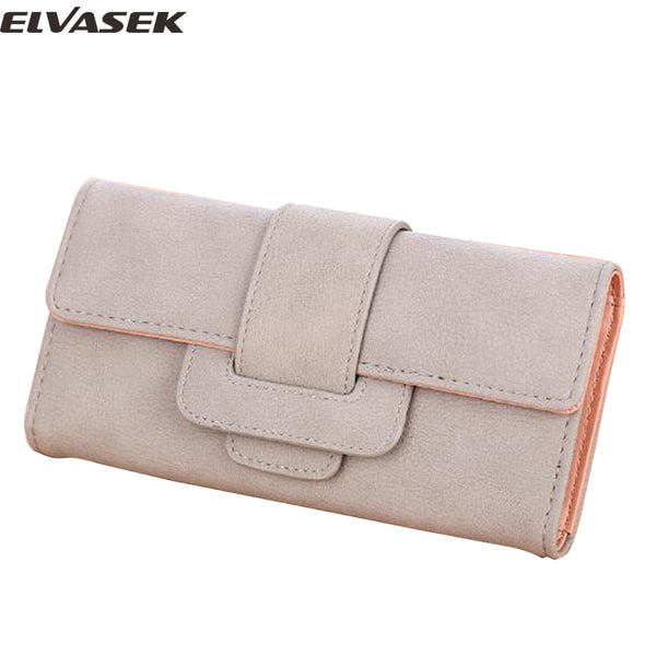 Women's Suede Long Wallet