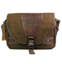 Vintage Canvas Travel Messenger/Laptop Bag