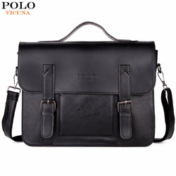 VICUNA POLO Leather Briefcase Lawyer Document Bag
