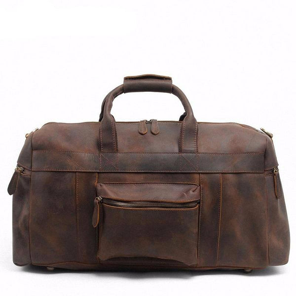 Vintage Crazy Horse Leather Duffle Travel bag