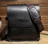 Synthetic Leather Messenger Bag for Him