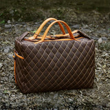 Big Duffle, Polyester Plaid Lattice Weekend Overnight Bag