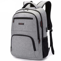 Oxford Business Backpack w/ USB Charging
