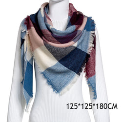 Winter Plaid Women's Cashmere Blend Scarf