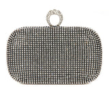 Women's Studded Party Clutches With Chain