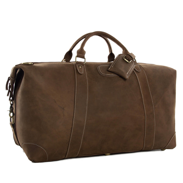 Super Large Italian Leather Duffle Bag