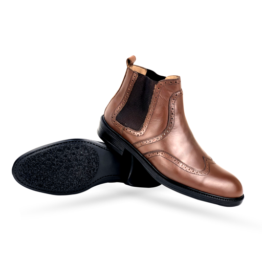 BO436-015 - BOTTINE Cuir TABAC | Chaussure Homme Classe Maroc