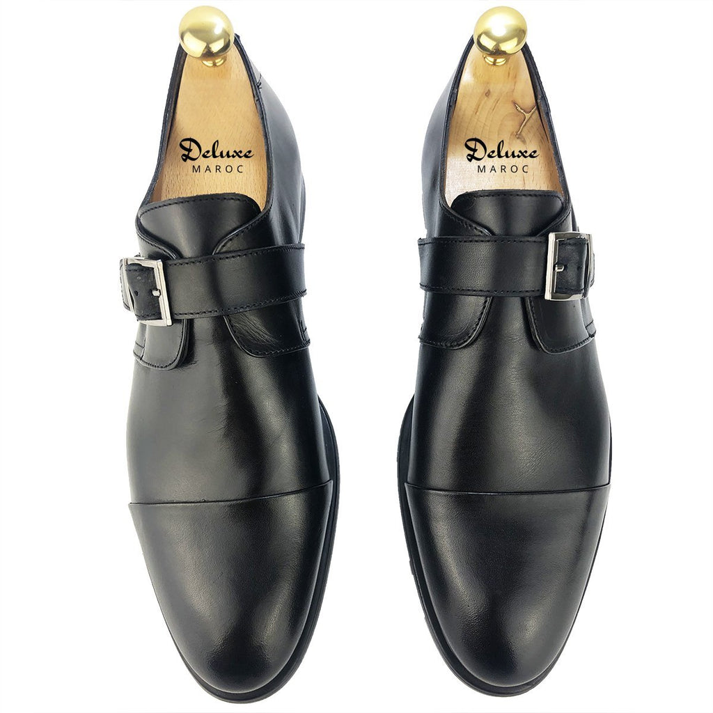 CH410-015 - Chaussure cuir NOIR - deluxe-maroc