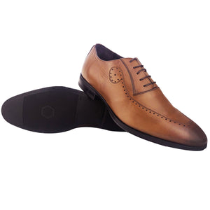 ALON - Chaussure Cuir TABAC | Chaussure Homme Classe Maroc