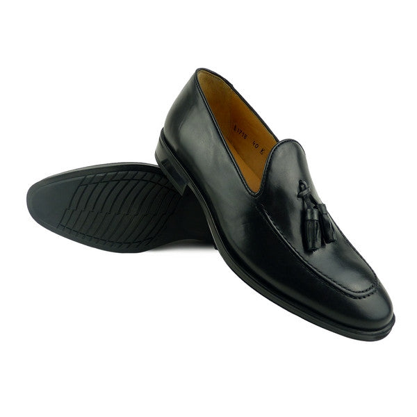 HERVE - Chaussure Cuir Noir  | Chaussure Homme Classe Maroc deluxe