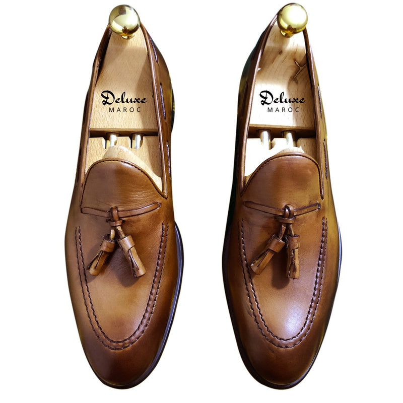 JACK - Chaussure Cuir TABAC | Chaussure Homme Classe Maroc