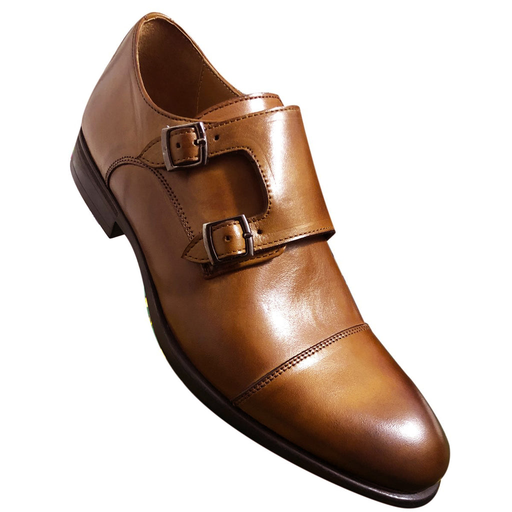 CH321-015 - Chaussure Cuir TABAC | Chaussure Homme Classe Maroc