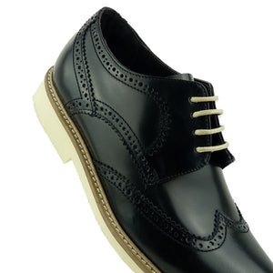 STAR - Chaussure Cuir Noir | Chaussure Homme Classe Maroc deluxe