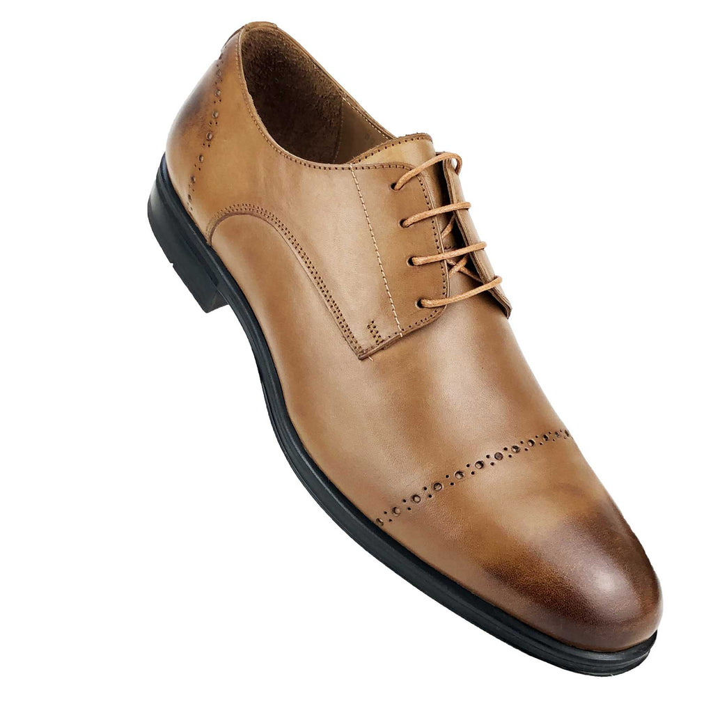 CH0041-015 - Chaussure Cuir TABAC| Chaussure Homme Classe Maroc