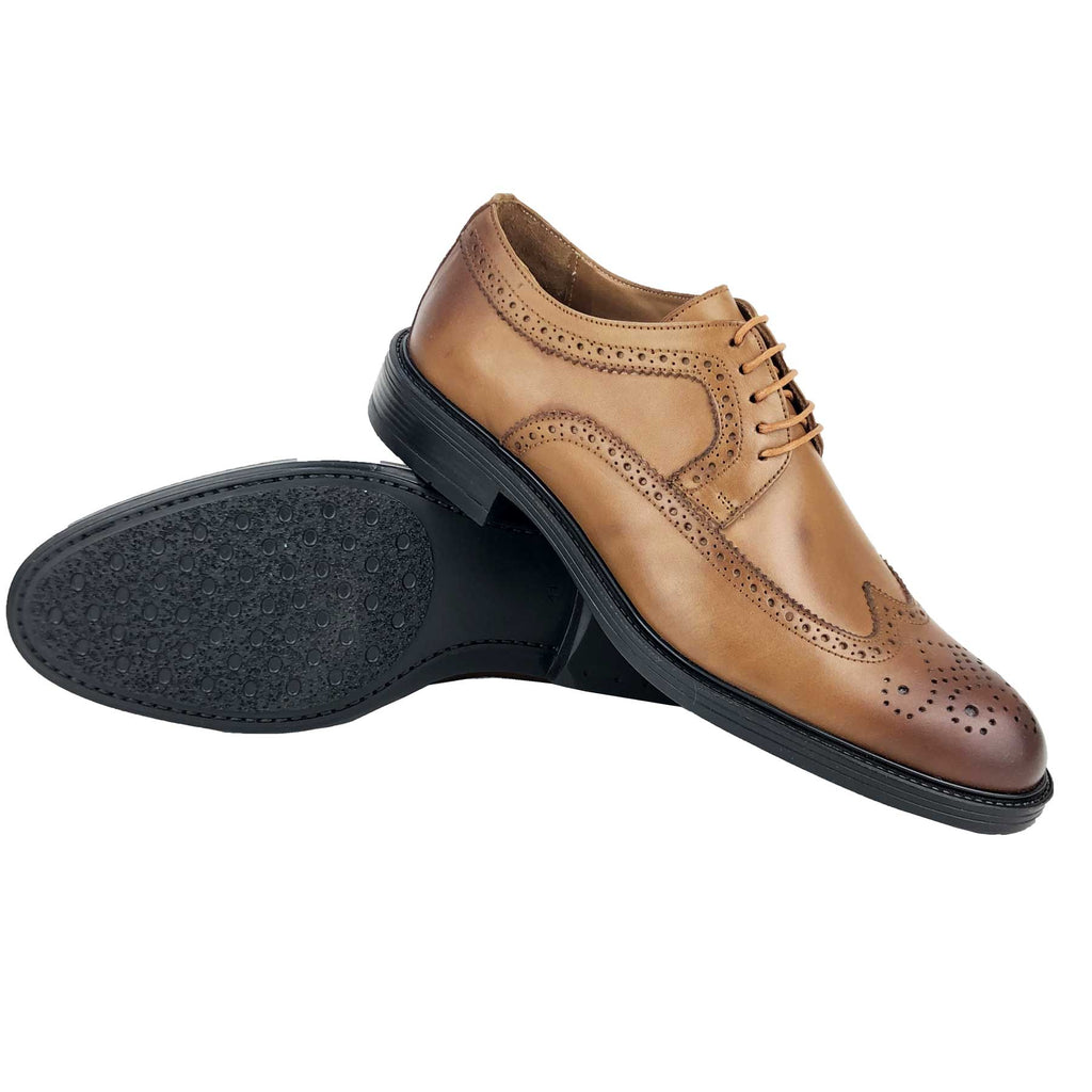 CH312-015 - Chaussure Cuir SABLE| Chaussure Homme Classe Maroc