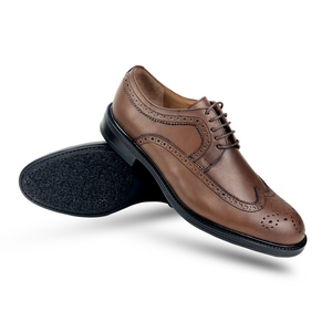 CH312-015 - Chaussure cuir taba - deluxe-maroc