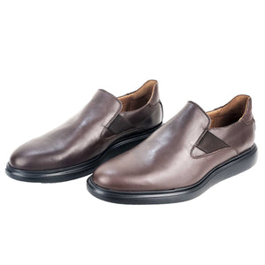 CH468-015 - Chaussure cuir MARRON - deluxe-maroc