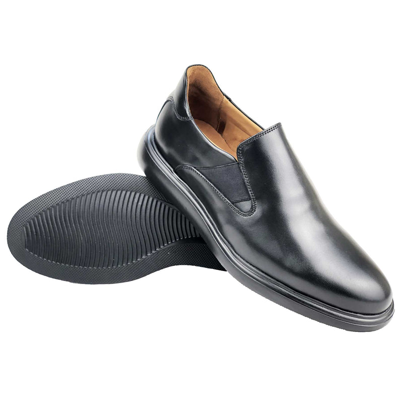 CH468-015 - Chaussure cuir NOIR - deluxe-maroc