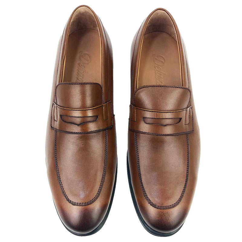 CH476-015 - Chaussure Cuir TABAC | Chaussure Homme Classe Maroc