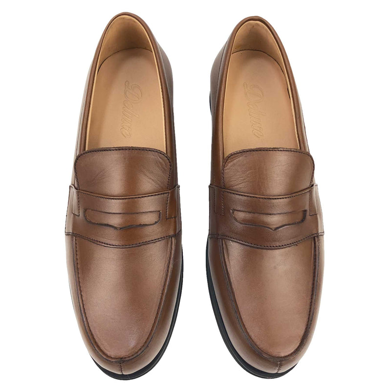 CH716-015 - Chaussure cuir TABAC - deluxe-maroc
