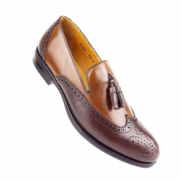 AXEL - Chaussure Cuir Marron | Chaussure Homme Classe Maroc deluxe