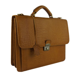 Cartable cuir tabac
