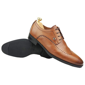 ELIOTT - Chaussure cuir Tabac - deluxe-maroc