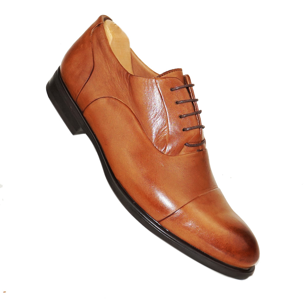 WILLIAM- Chaussure Cuir Tabac