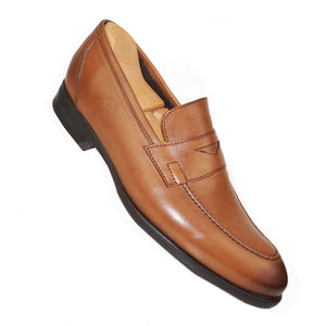 NICOLAS - Chaussure Cuir Tabac - deluxe-maroc