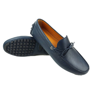 CHELSEA - Mocassin cuir Blue | Mocassin Homme Maroc
