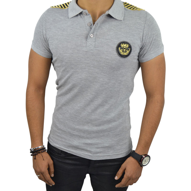 ROMAIN T-Shirt Polo Homme Gris | Tee Shirt Homme Maroc deluxe