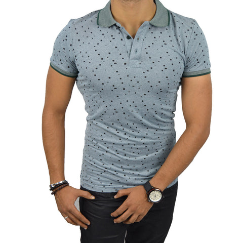 PIERRE T-Shirt Polo Homme Vert | Tee Shirt Homme Maroc deluxe