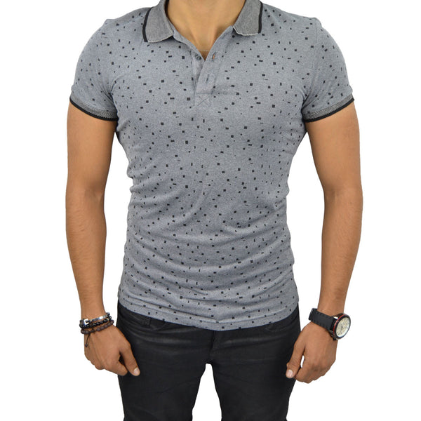 PIERRE T-Shirt Polo Homme Gris | Tee Shirt Homme Maroc deluxe
