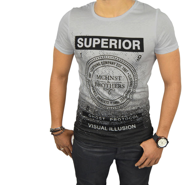 LOIC T-Shirt Homme Gris | Tee Shirt Homme Maroc deluxe