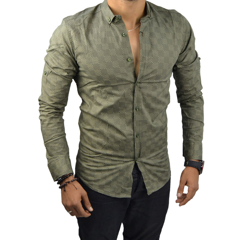 GAEL - Chemise Vert Militaire | Chemise Homme Turque deluxe
