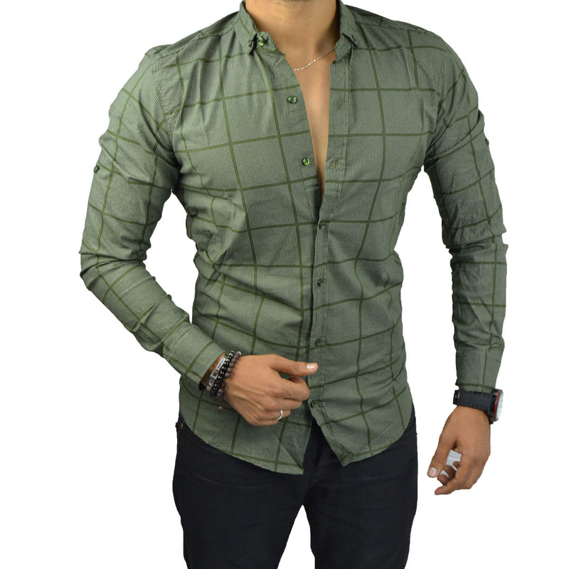 KYLIAN - Chemise Vert Militaire | Chemise Homme Turque deluxe