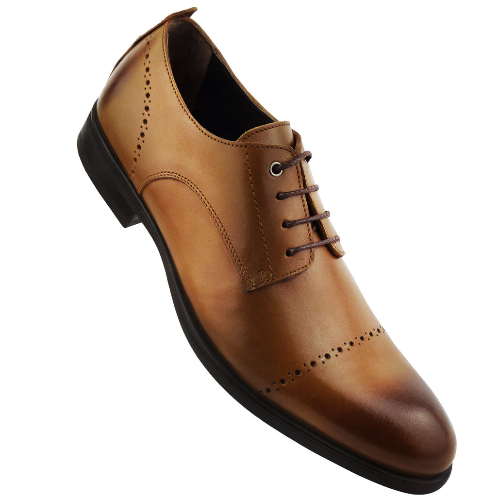DUMAS - Chaussure Cuir Tabac | Chaussure Homme Classe Maroc deluxe