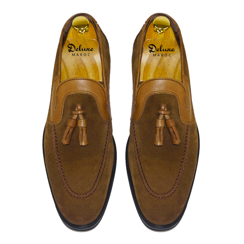 OSCAR - Chaussure Daim Tabac | Chaussure Homme Classe Maroc