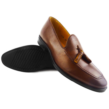 HERVE - Chaussure Cuir Tabac | Chaussure Homme Classe Maroc